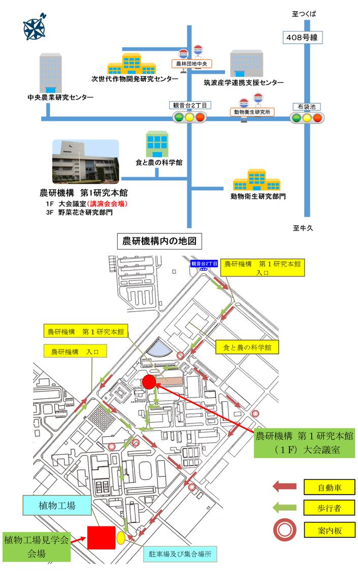 バス停からの道案内図