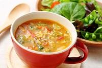 北瑞穂とレンズ豆のスープ